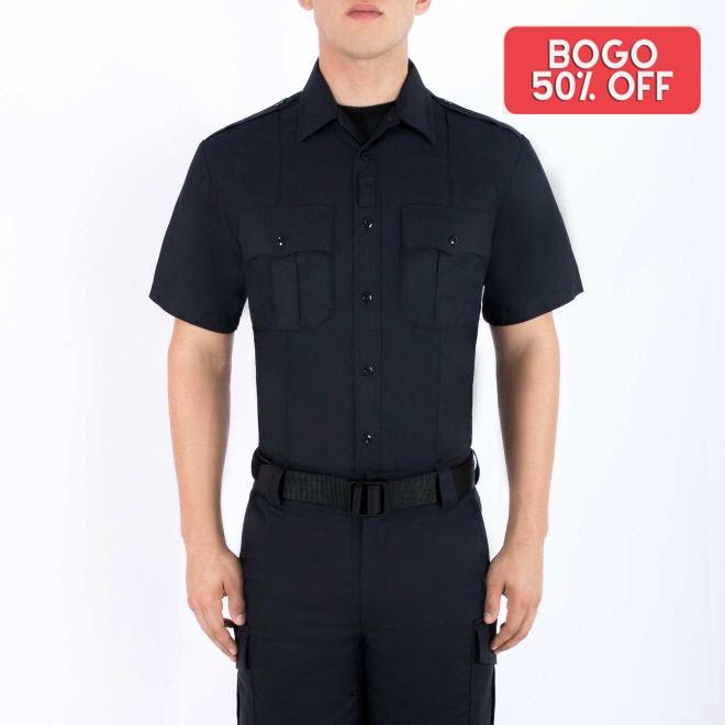 Blauer 8916 rayon supershirt short sleeve police uniform duty shirt